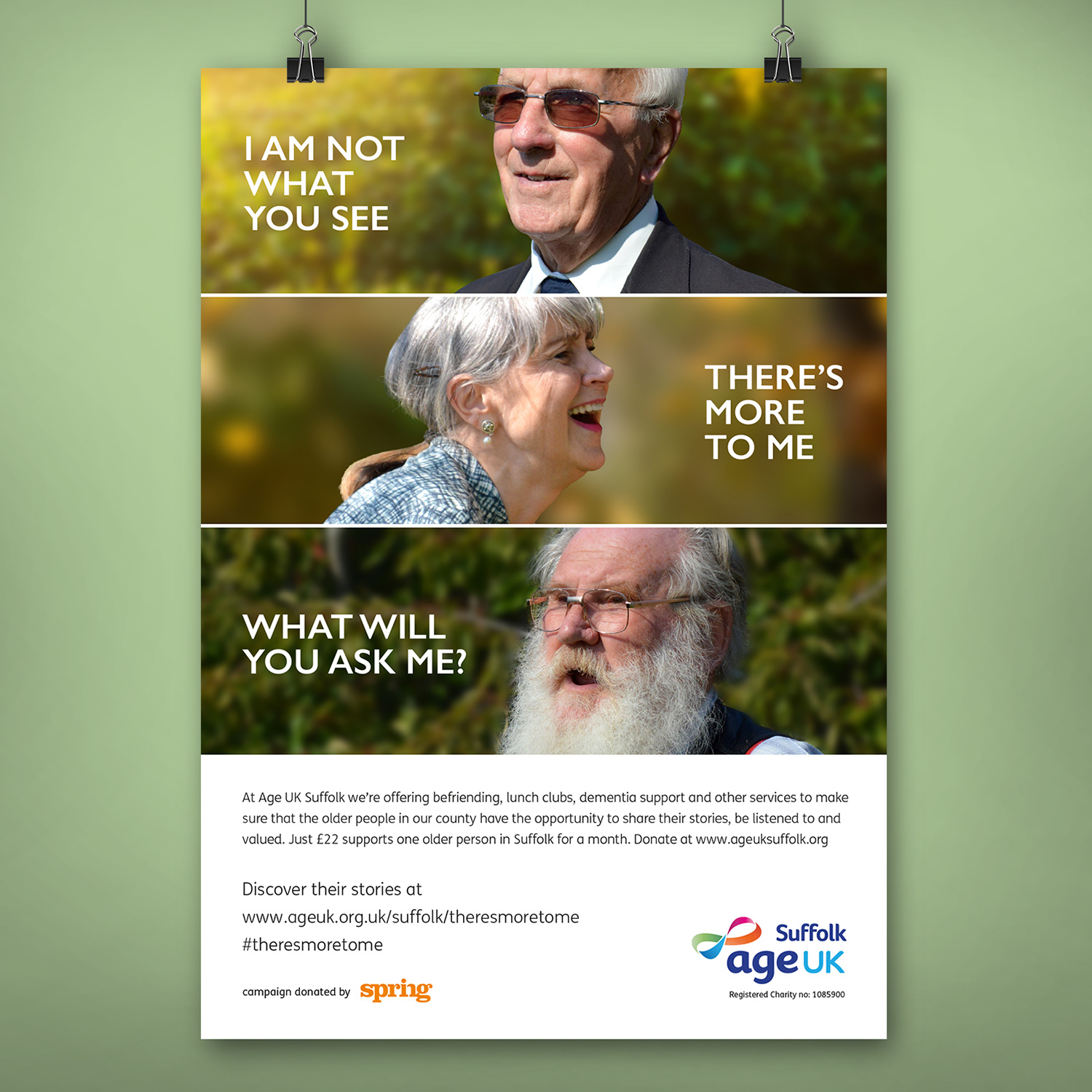Age UK Suffolk Campaign poster
