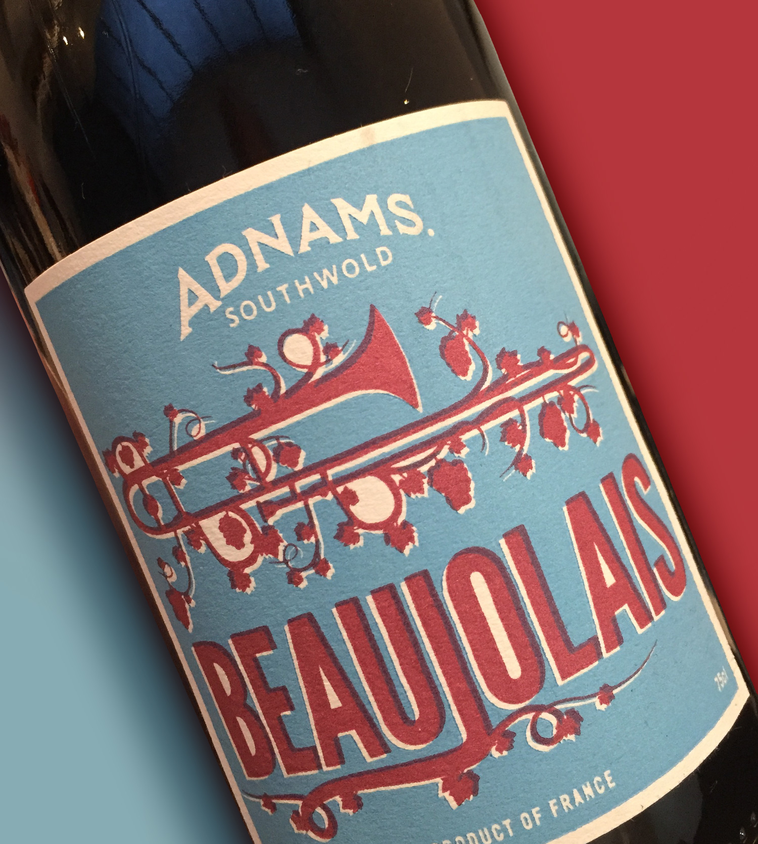 Adnams wine label beaujolais