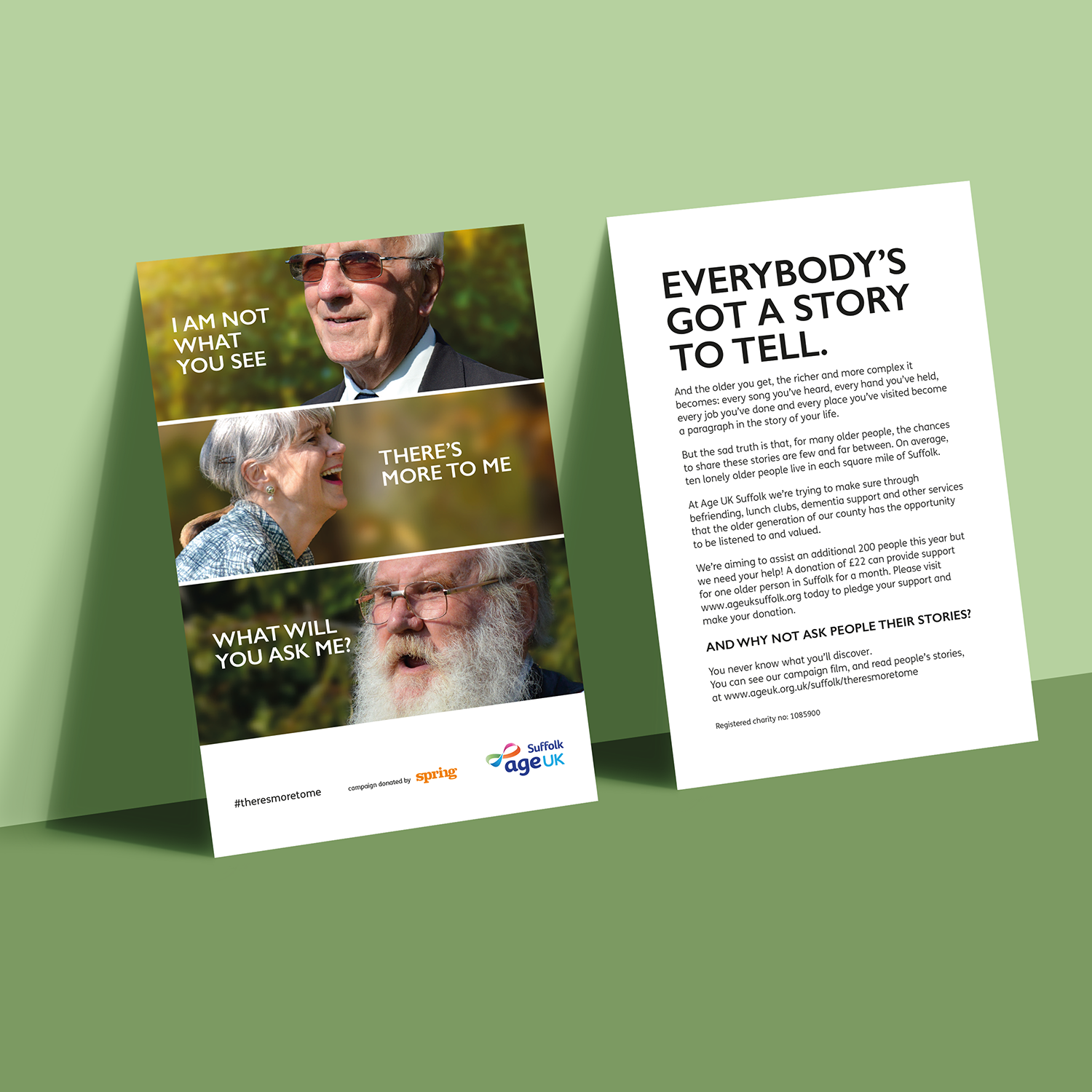 Age UK Suffolk Campaign boards