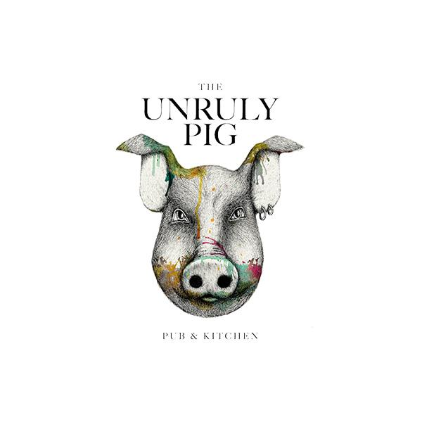 Unruly Pig Logo white