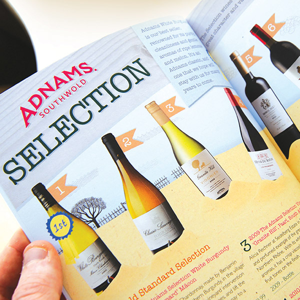 Reading the Adnams Winebook