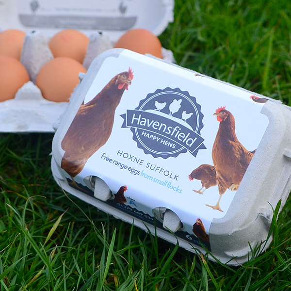 Havensfield Happy Hens egg box