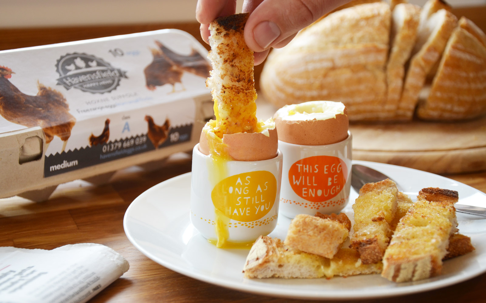 Boiled Havensfield eggs and soldiers