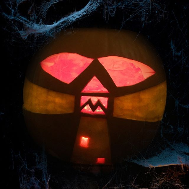 All ready for tonight … #LighthouseInTheDarkness #Southwold #Pumpkin #Suffolk #MakeExcellentWork #Halloween #CarveItUp #Design