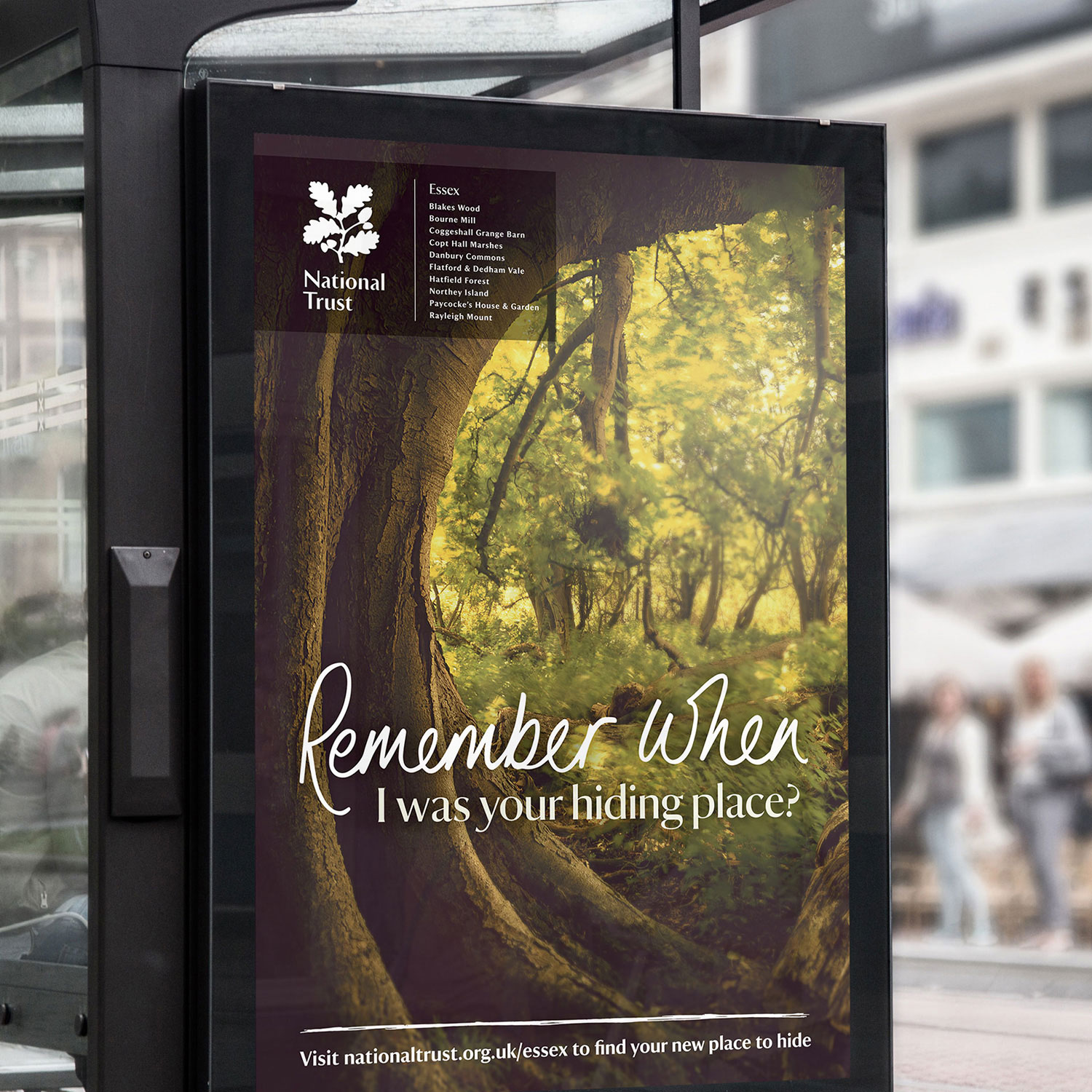 National Trust bus shelter advert