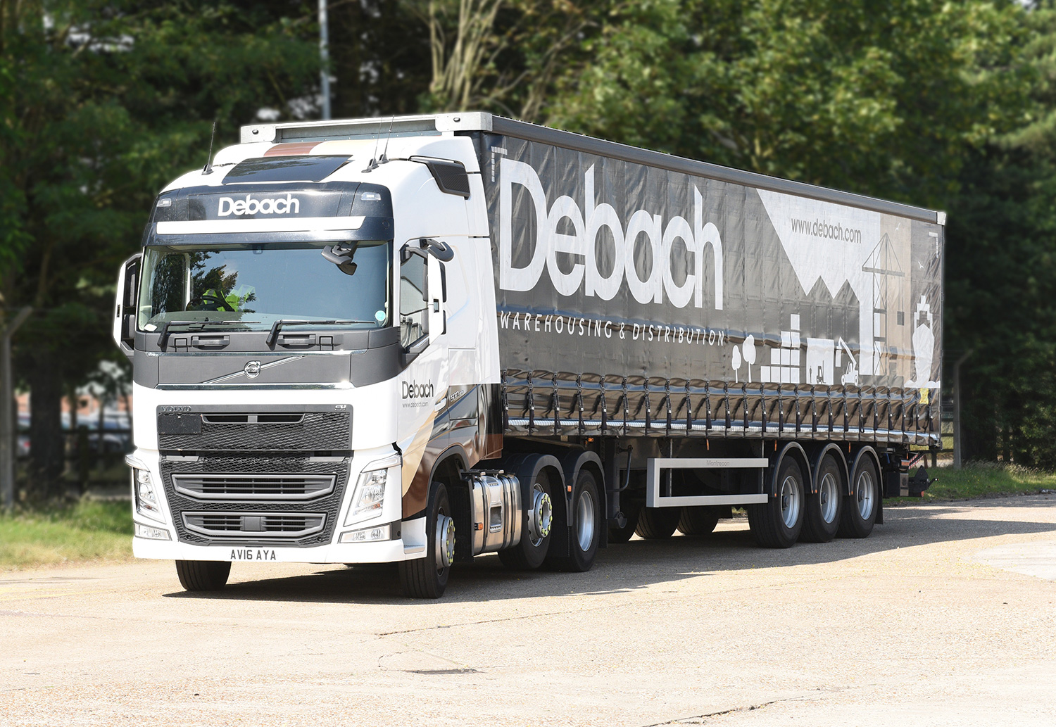 Debach lorry on the road