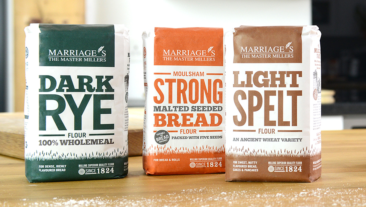 Three Marriage's Flour bags