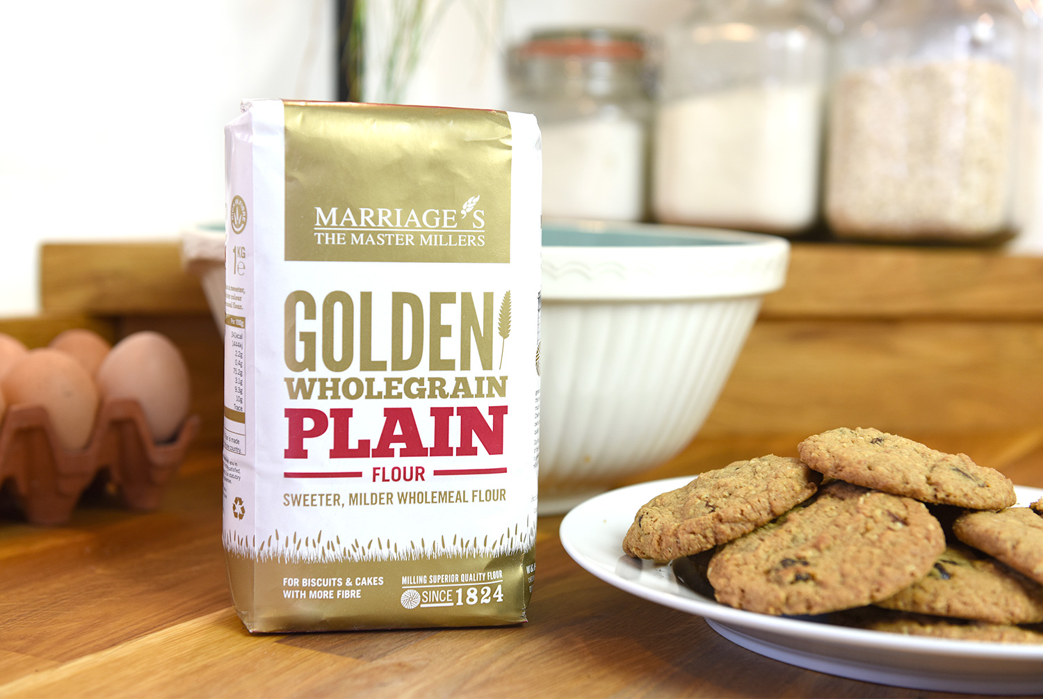 Marriage's Golden Wholegrain Flour bag