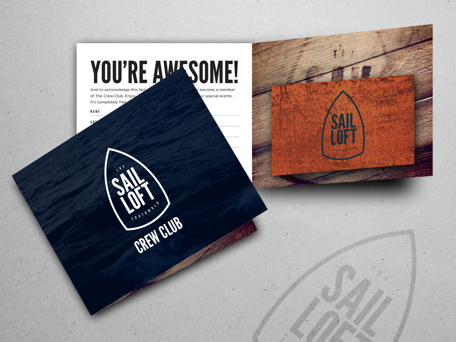 Sail Loft club stationary