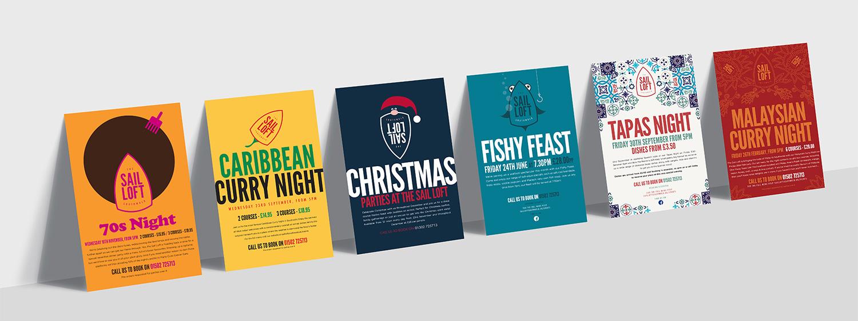 Sail Loft event posters