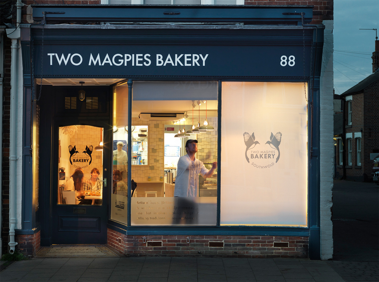 Two magpies store front