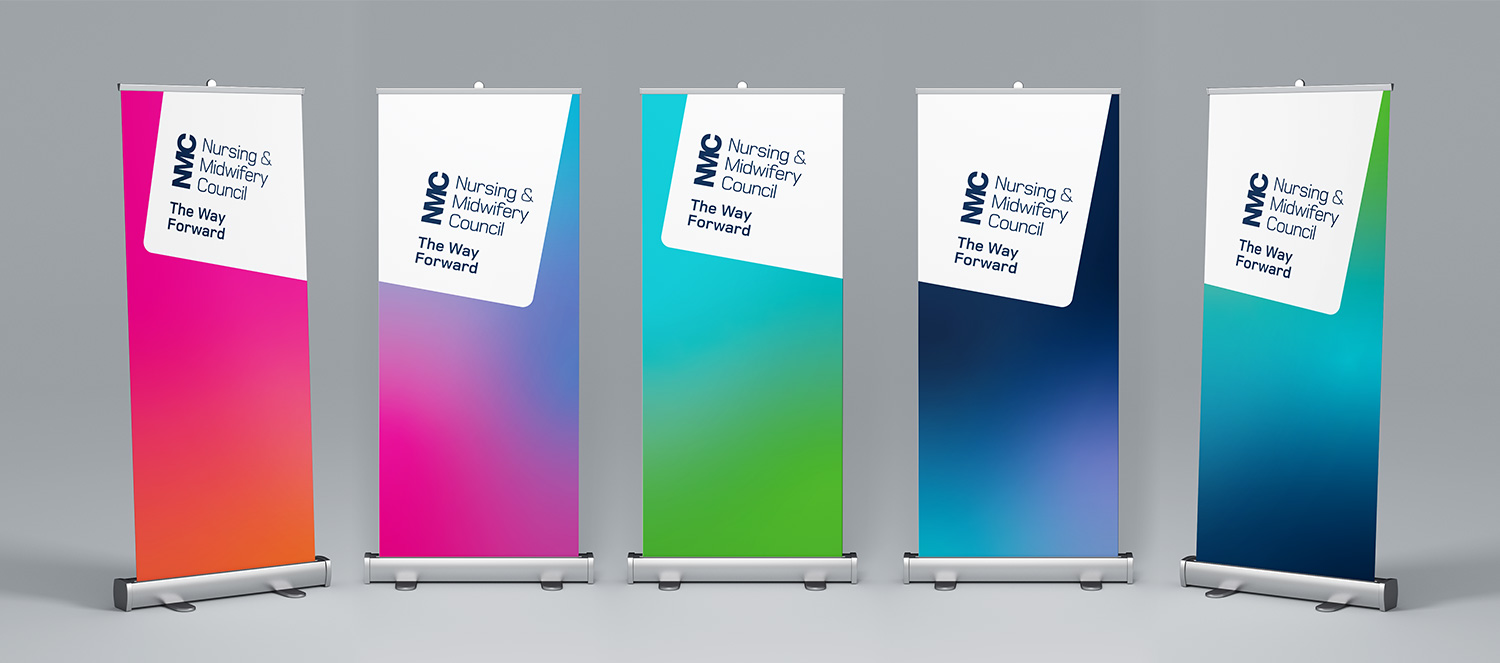 NMC Staff Conference brochure pull up banners