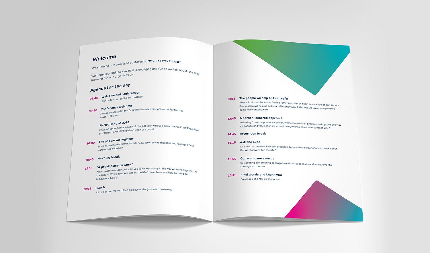 NMC Staff Conference contents page