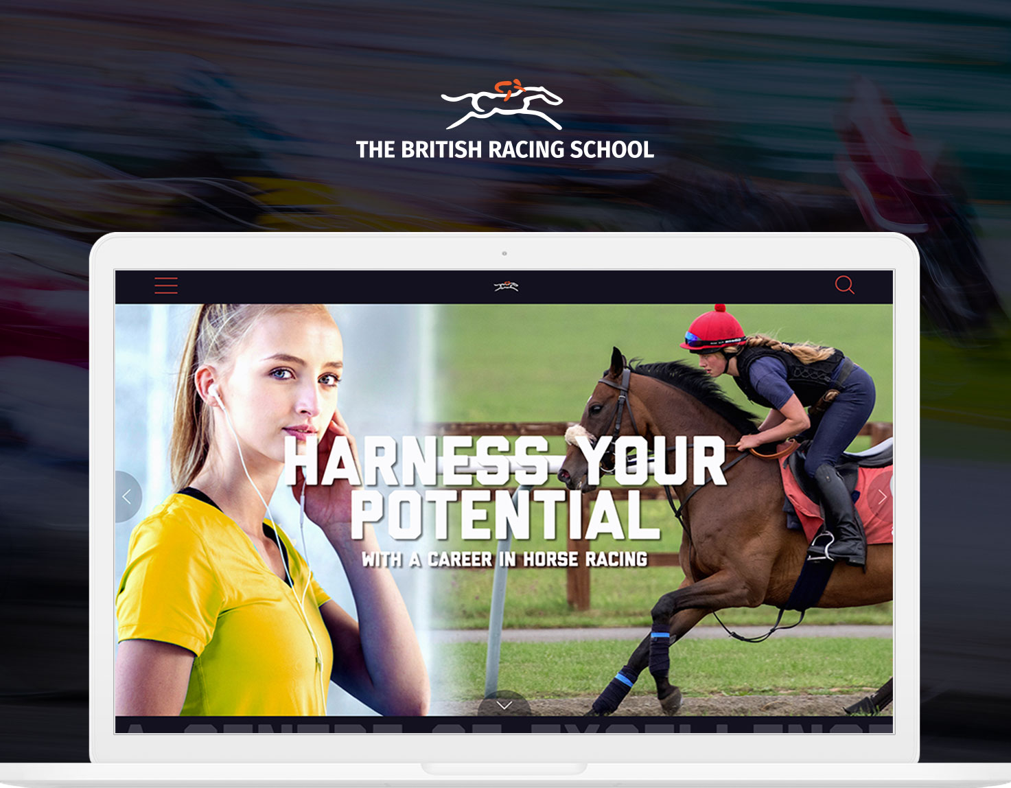 British Racing School laptop