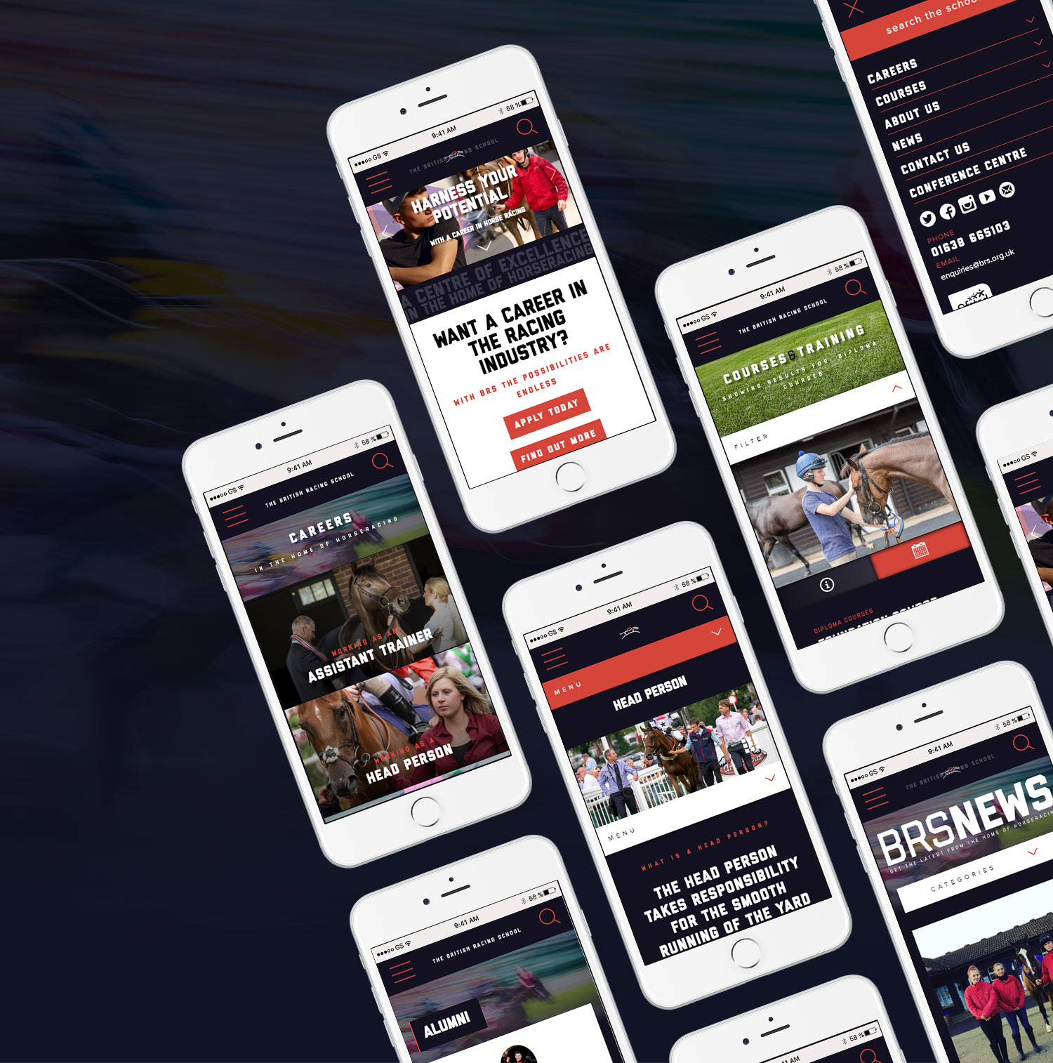 British Racing School mobile site