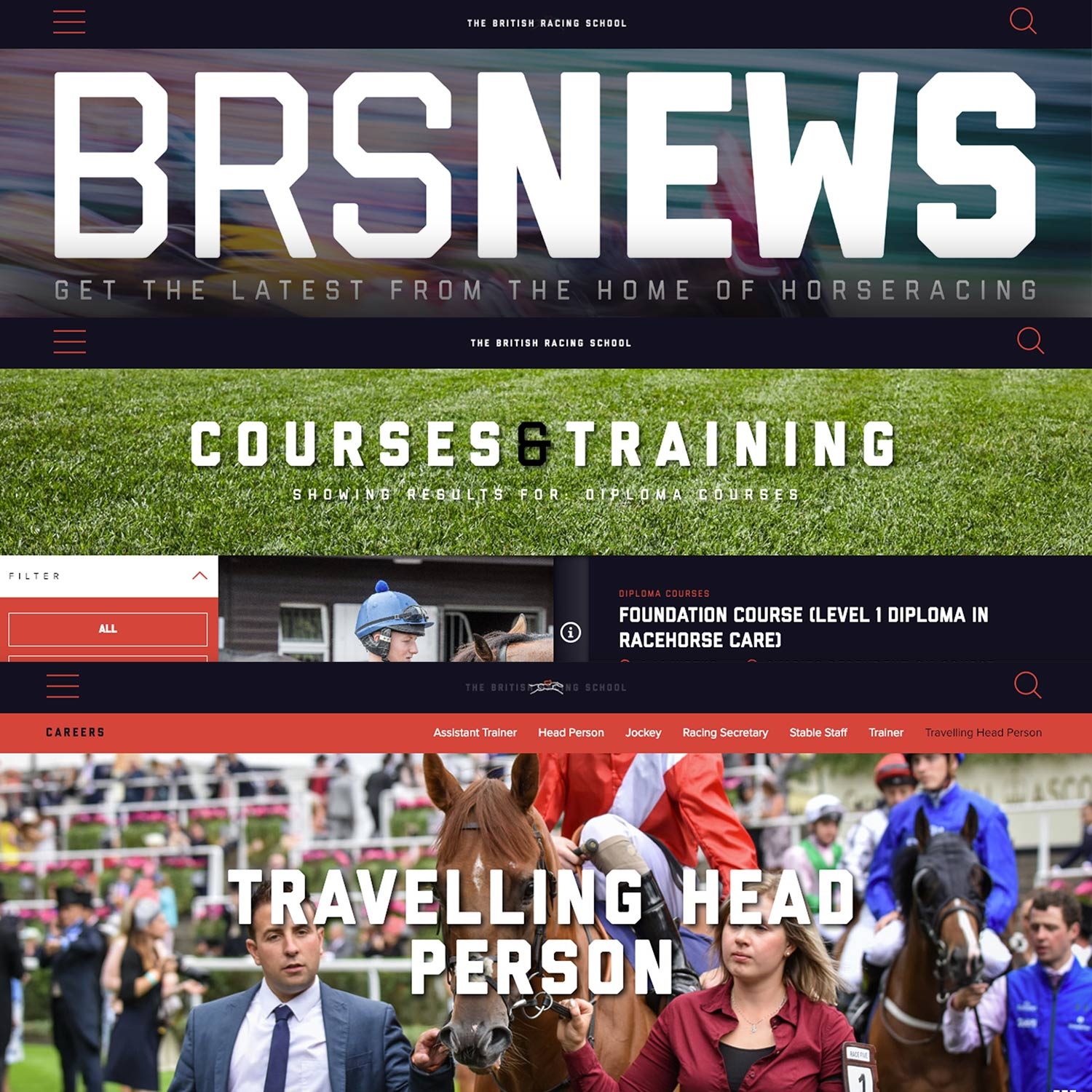 British Racing School careers page