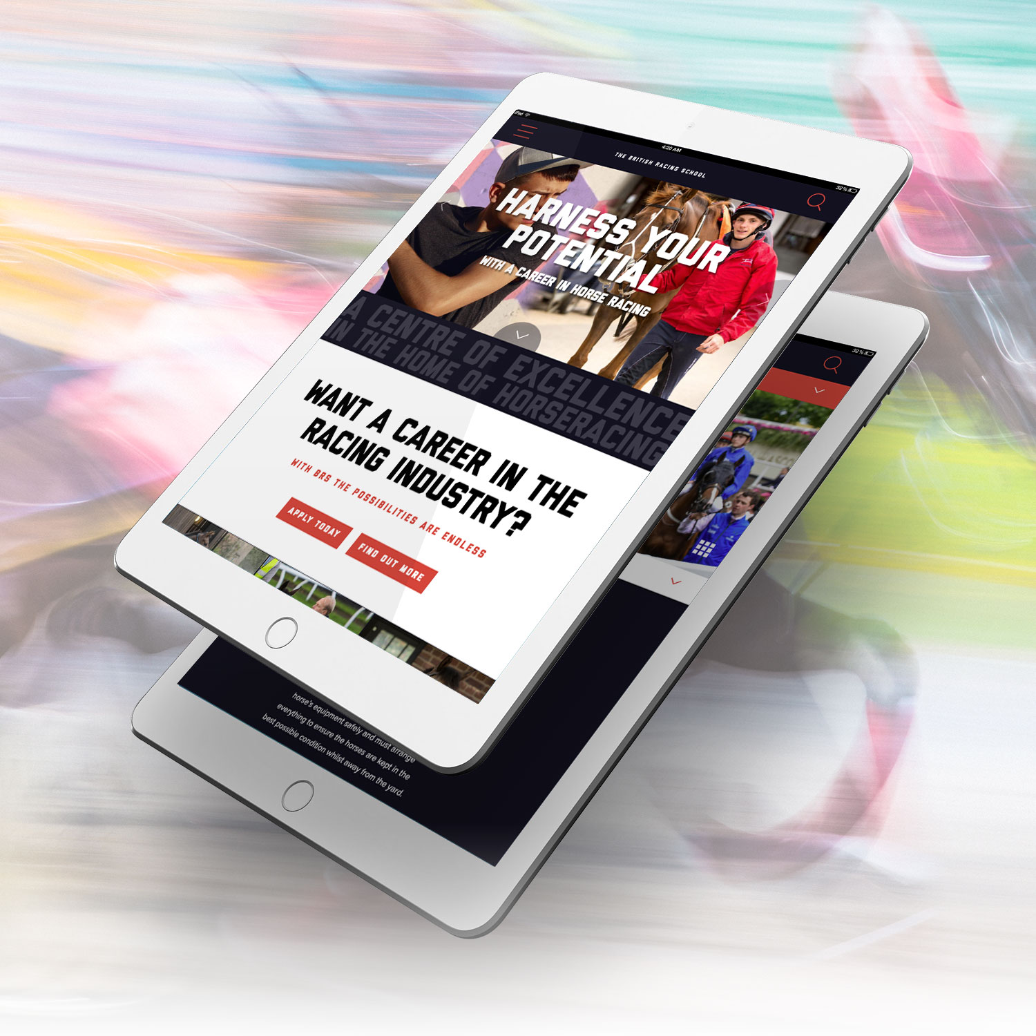 British Racing School tablet site