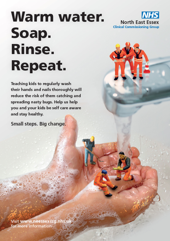 NHS Small Steps wash hands poster