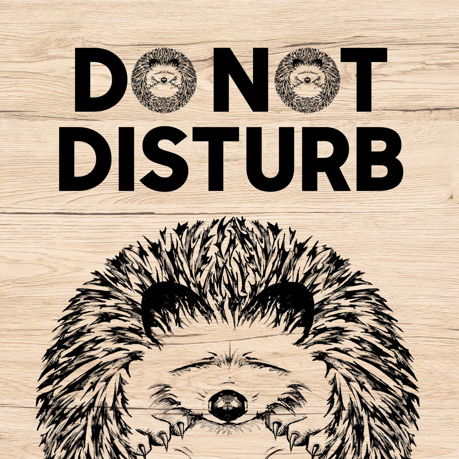 The Hog Do Not Disturb wooden sign