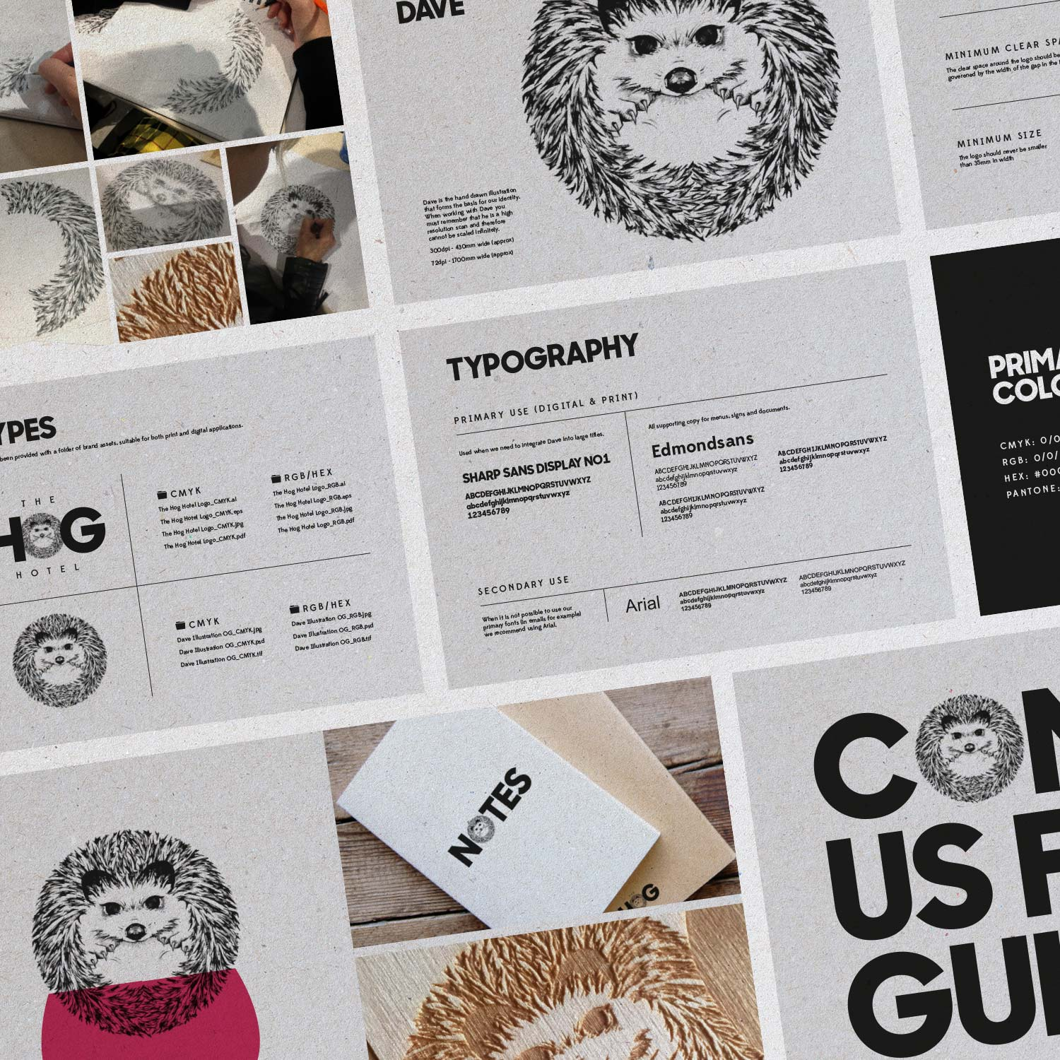 The Hog brand guidelines spread