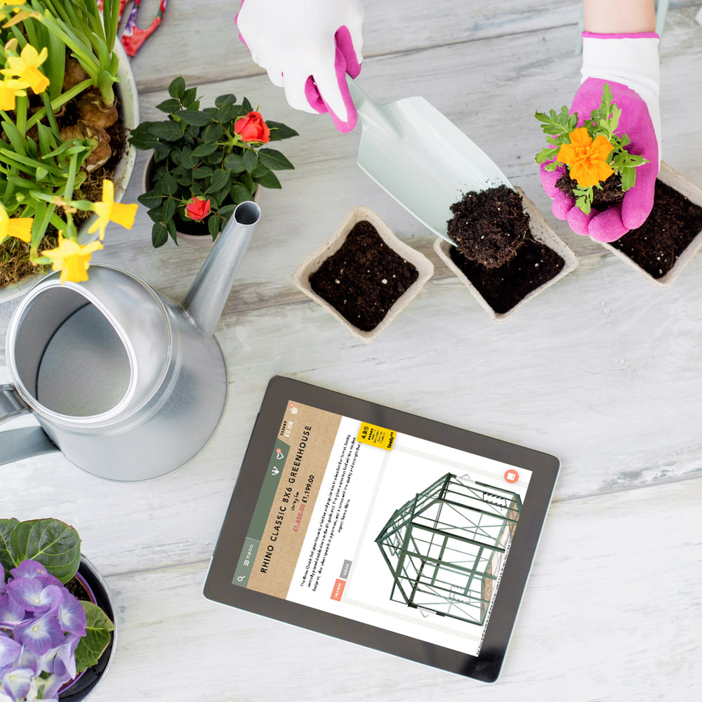 Greenhouses Direct tablet site