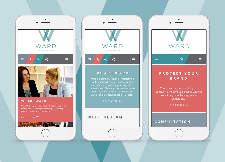 Ward Trademarks mobile sites