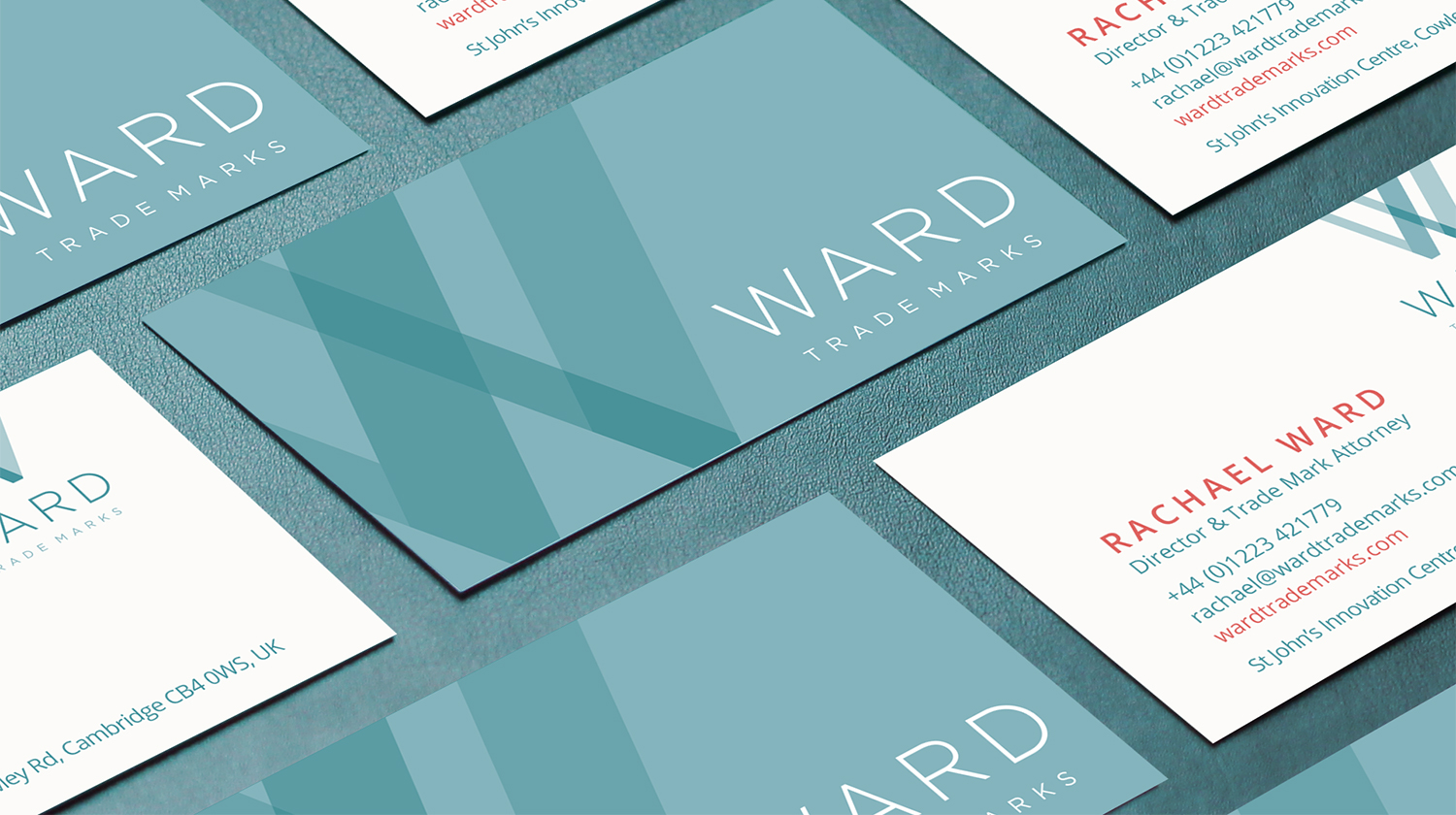Ward Trademarks business cards