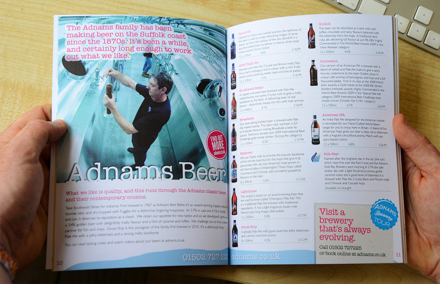 Adnams winebook inside