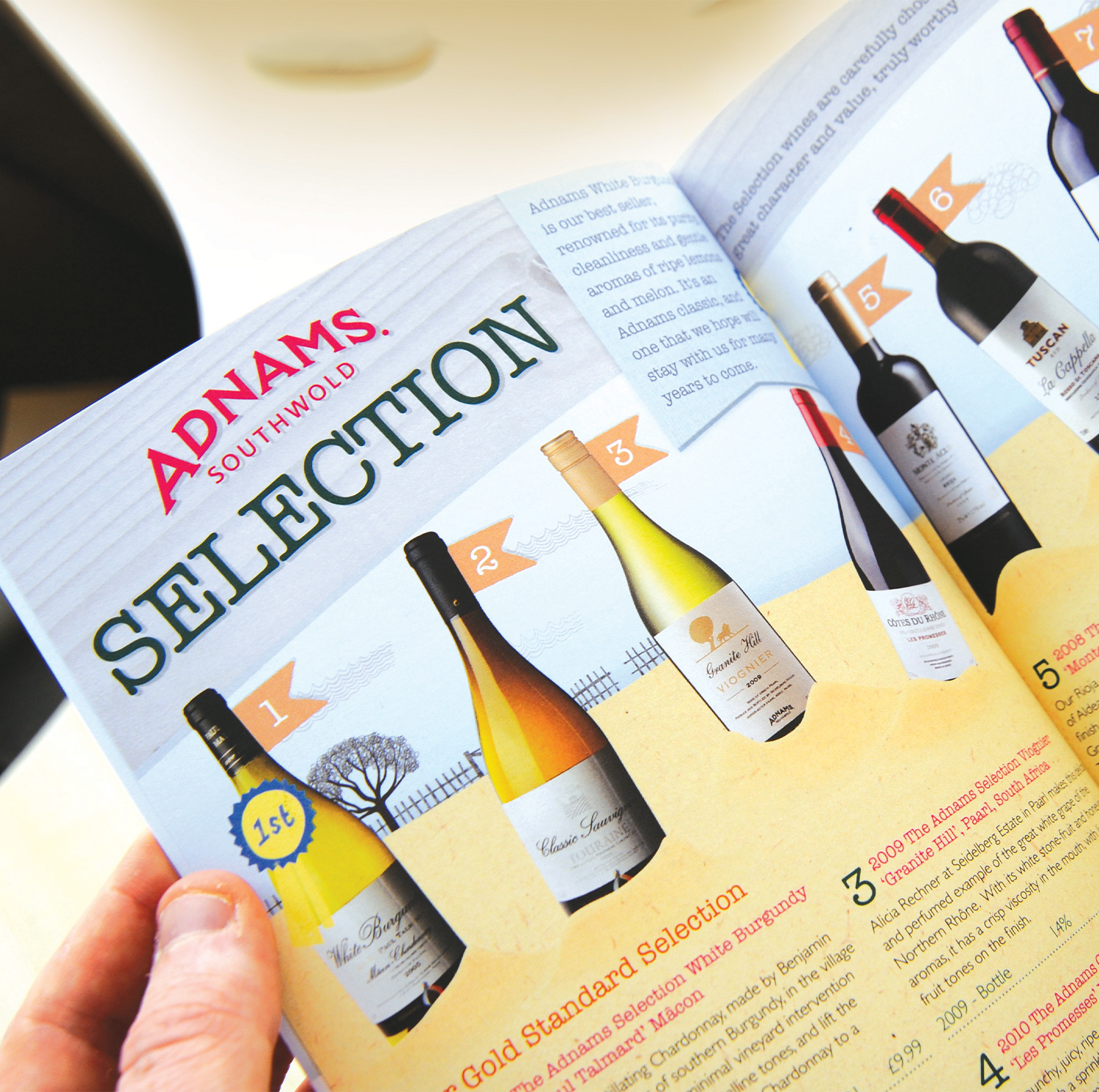 Adnams winebook browsing