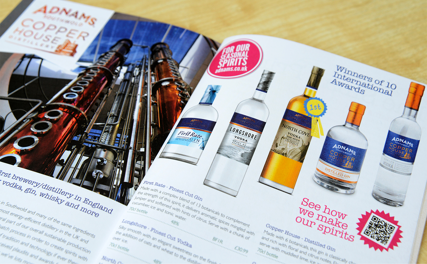 Adnams winebook inside pages