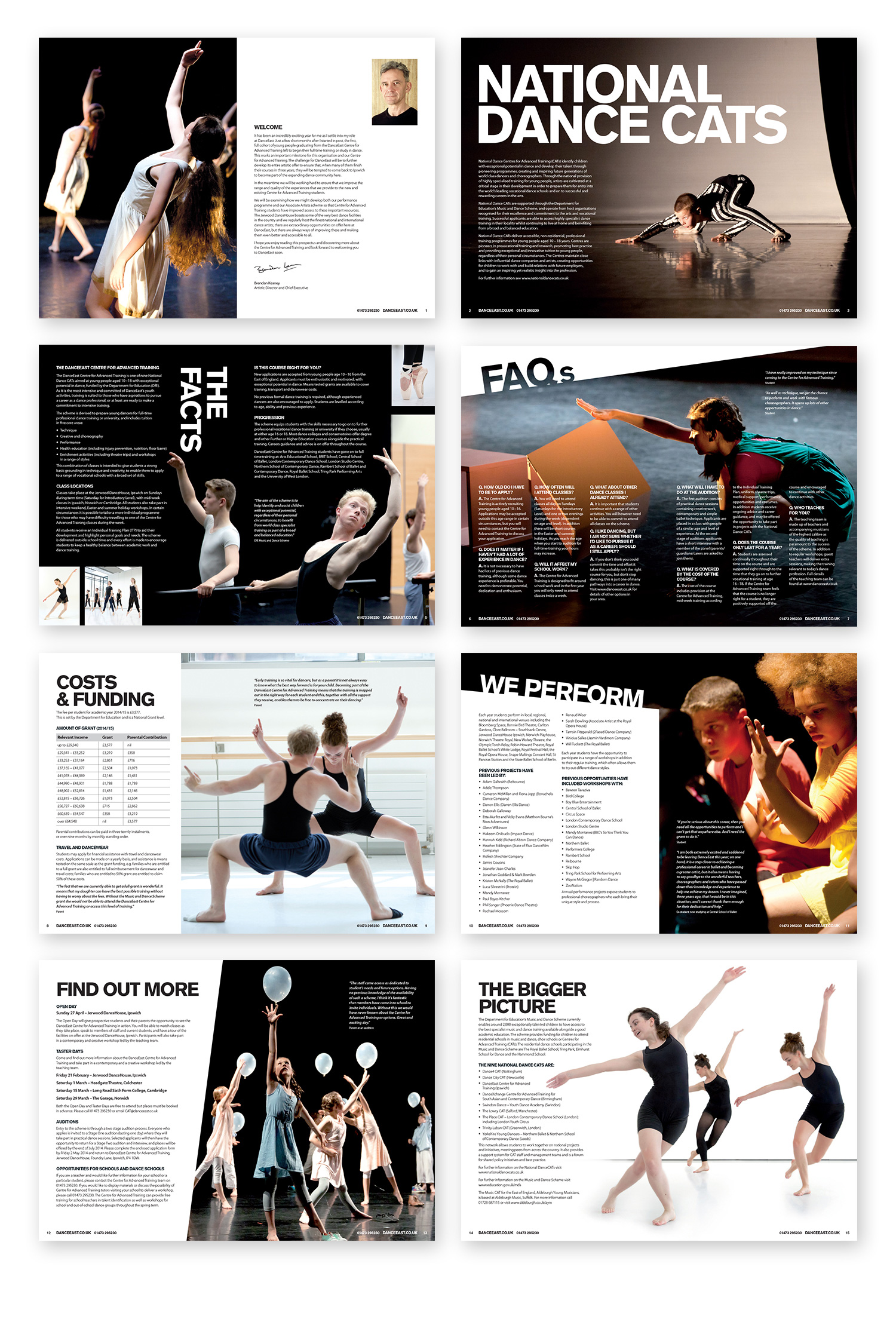 DanceEast brochure pages