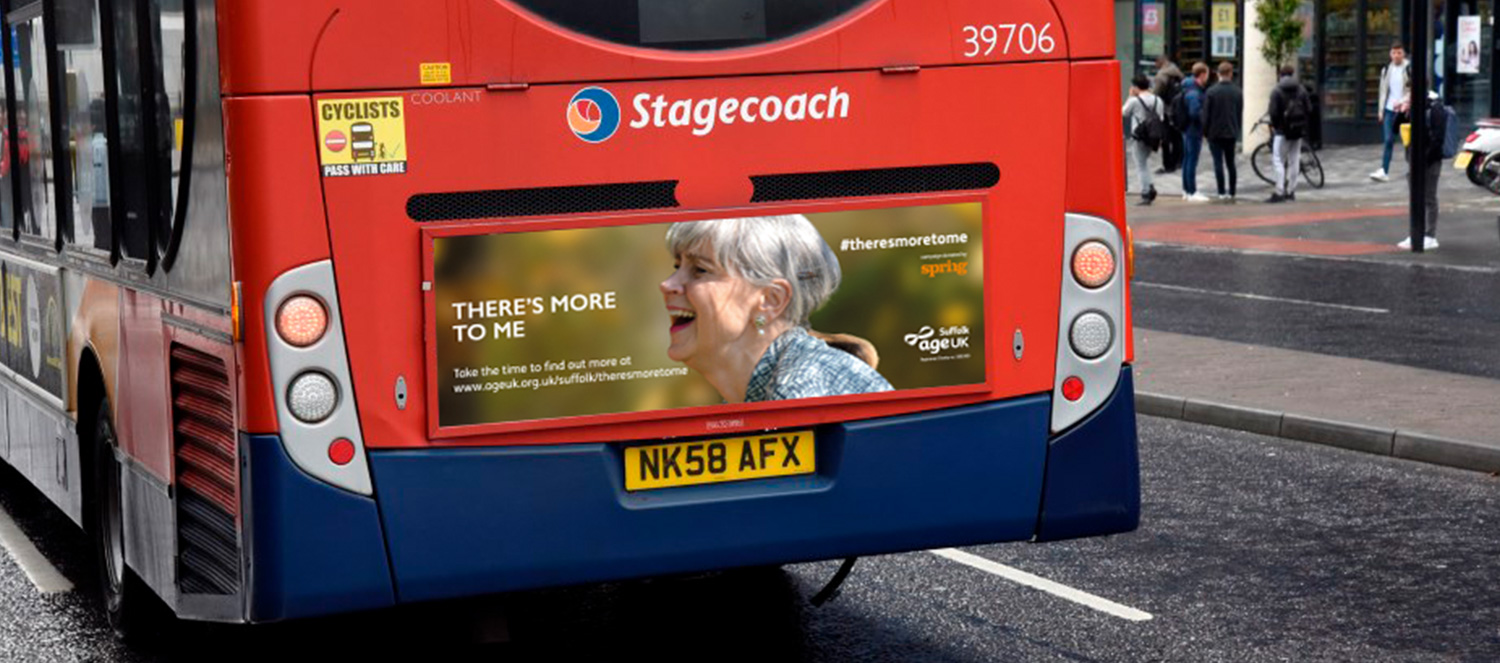 Age UK Suffolk Campaign bus back