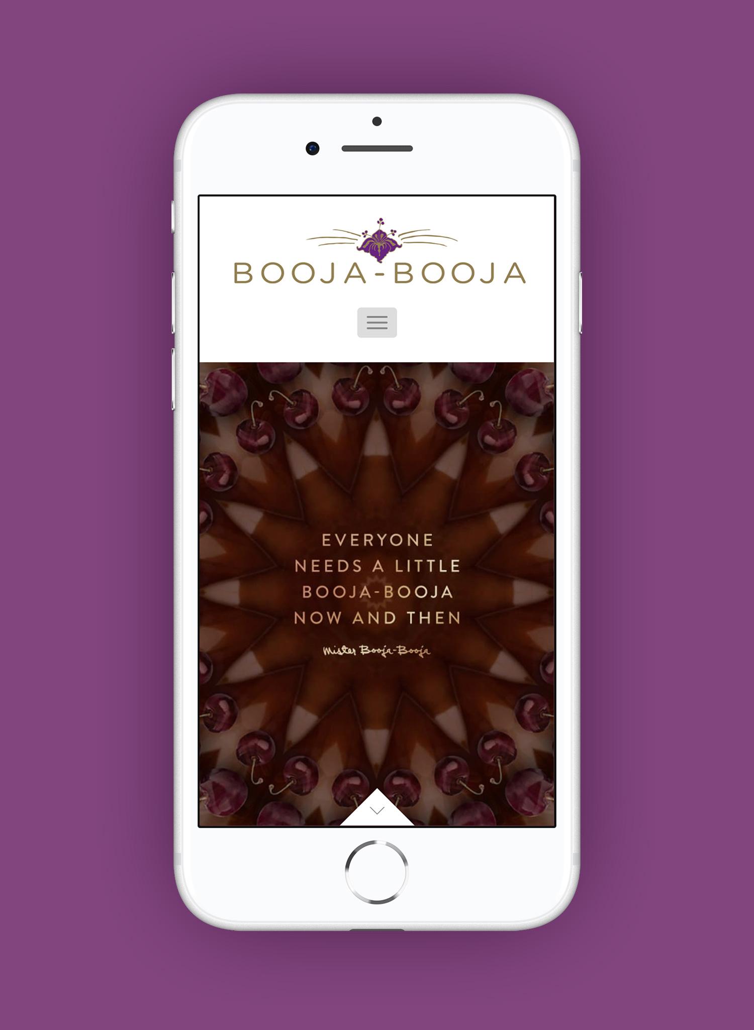 Booja-Booja mobile homepage