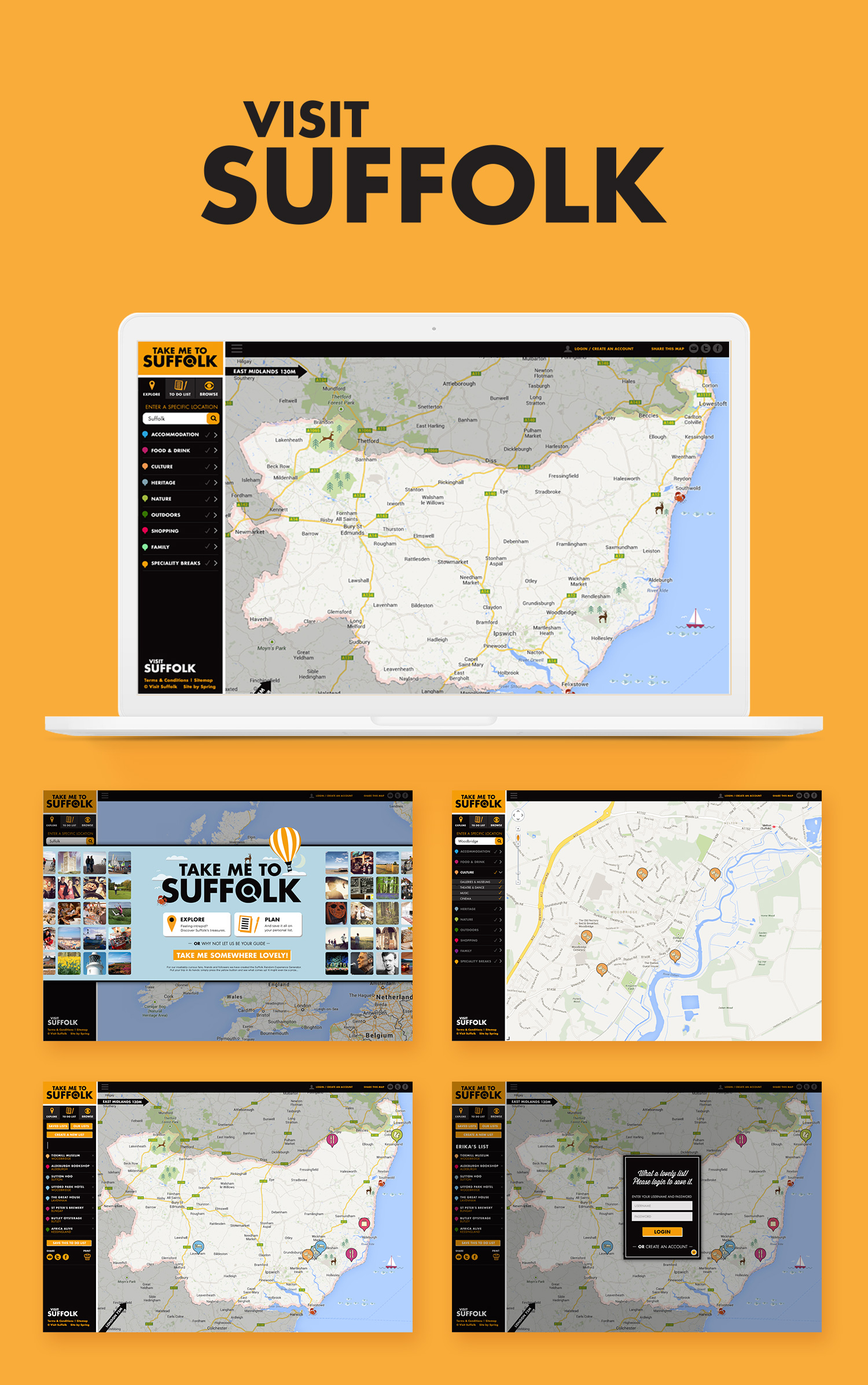 Visit Suffolk Take Me To Suffolk web pages