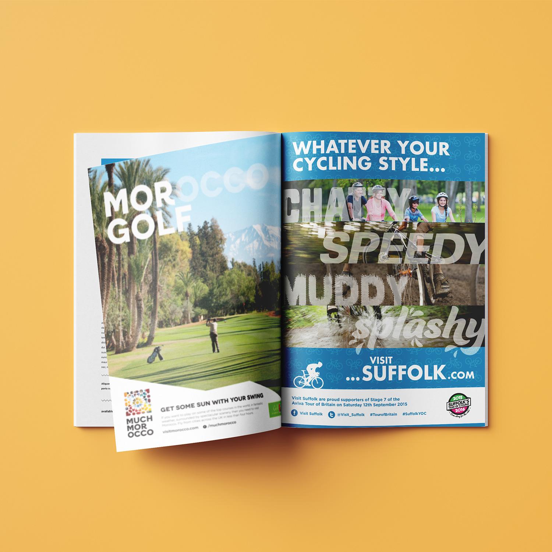 Visit Suffolk print advert