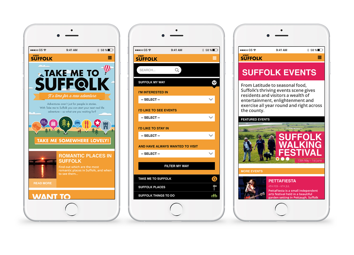 Take me to Suffolk mobile pages