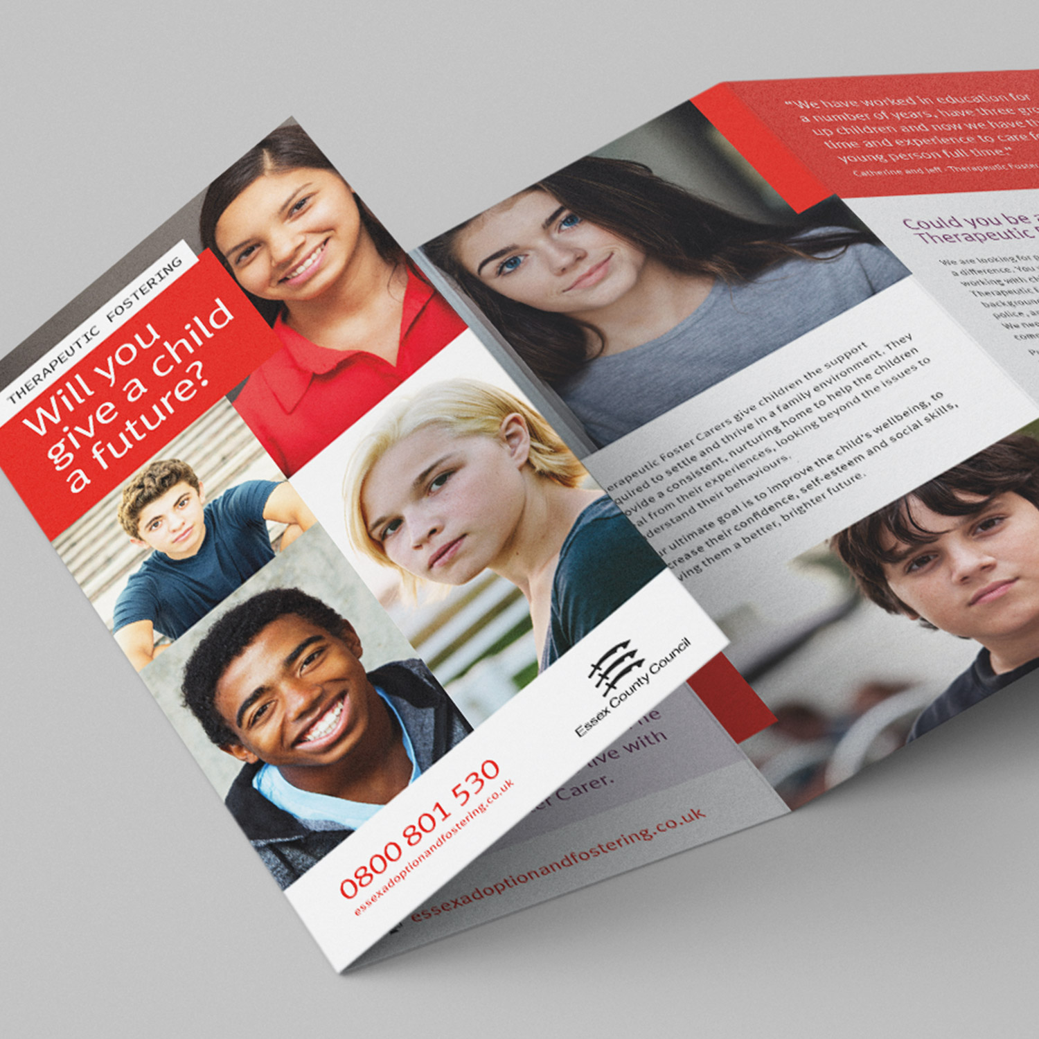 Essex County Council Therapeutic Fostering leaflet