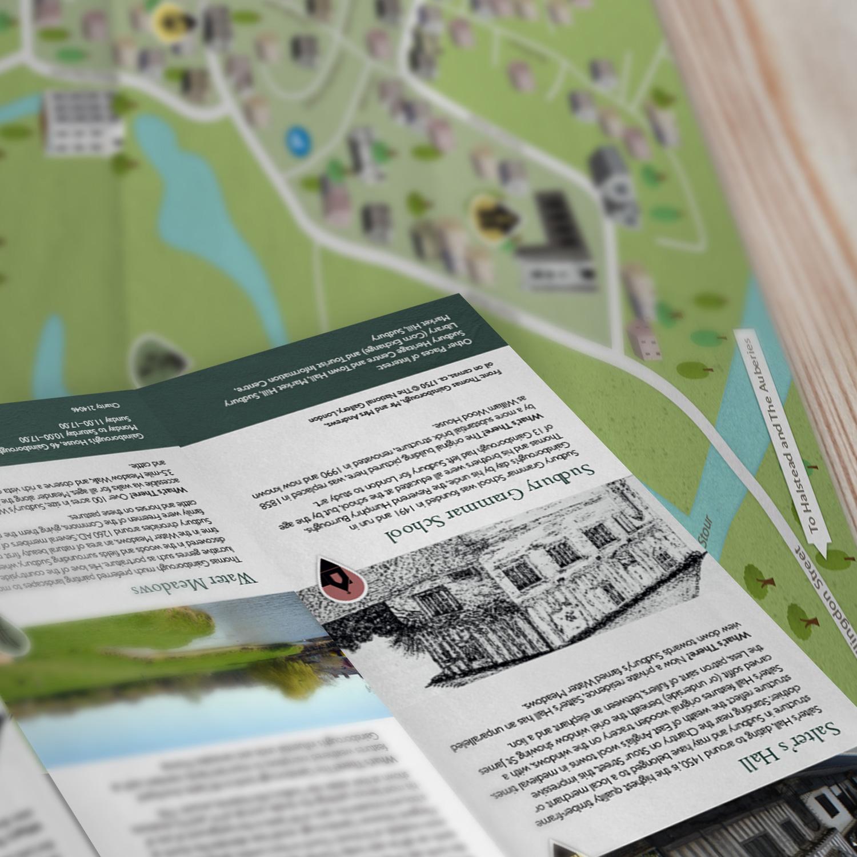 Gainsborough's Walk map leaflet