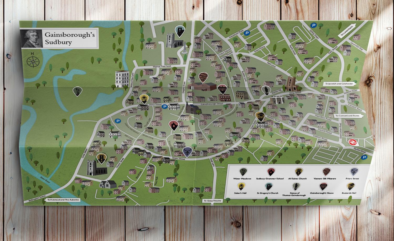 Gainsborough's Walk map