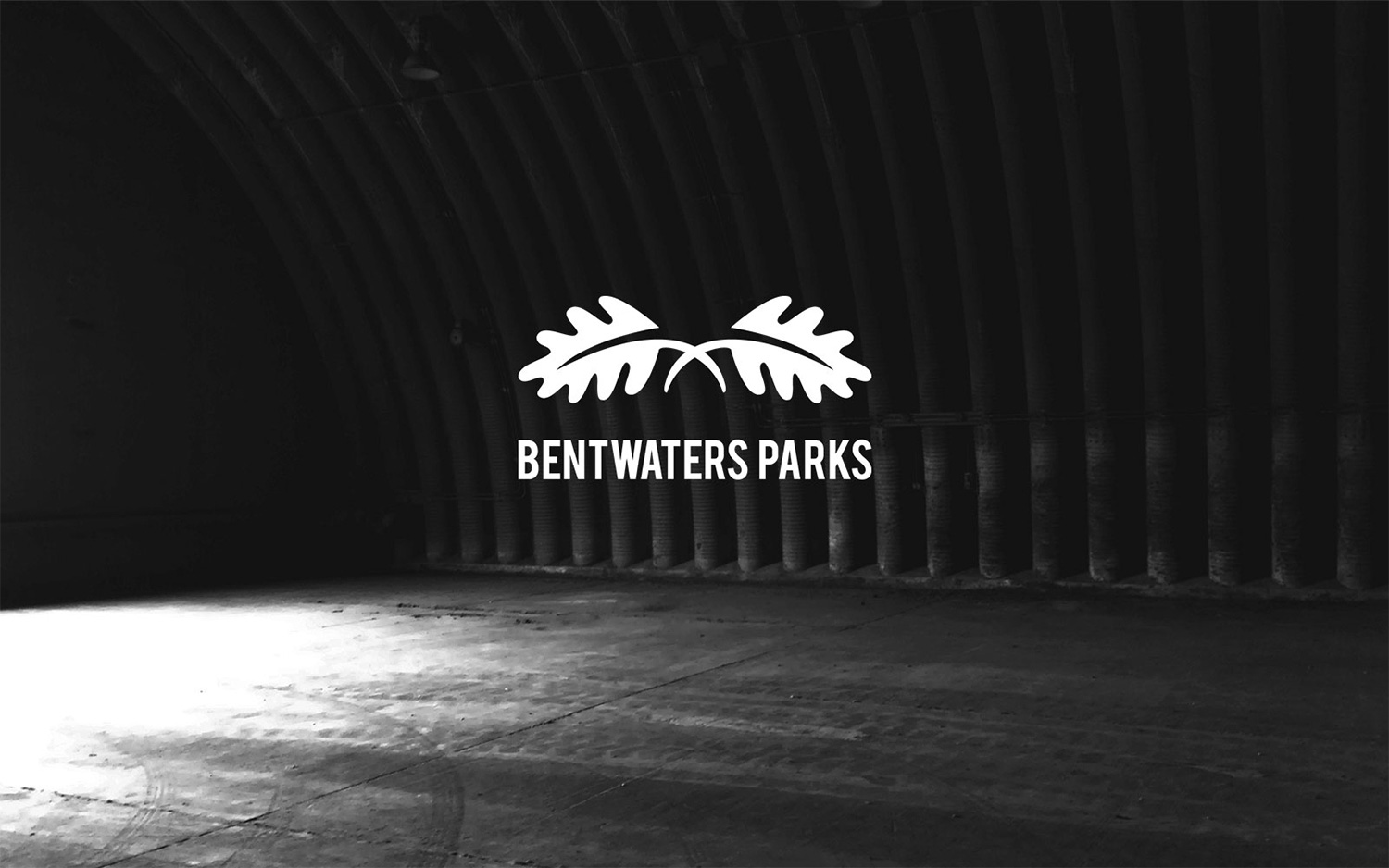 Bentwaters Parks logo black and white