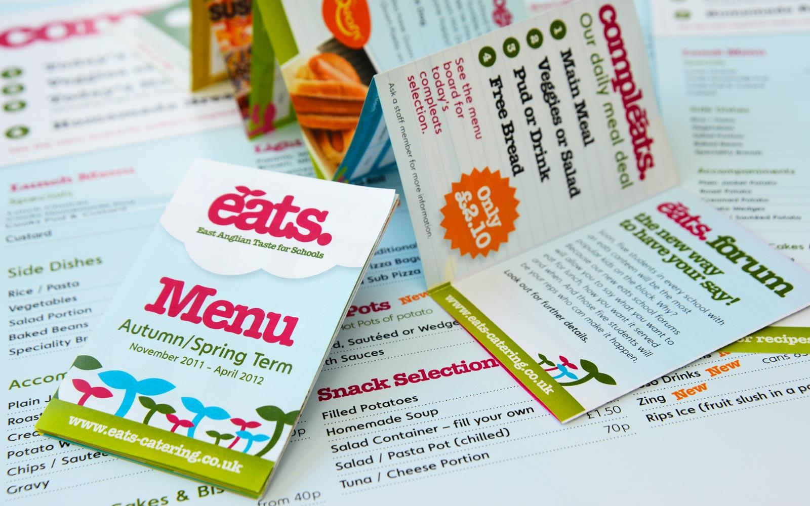 EATS paper menus