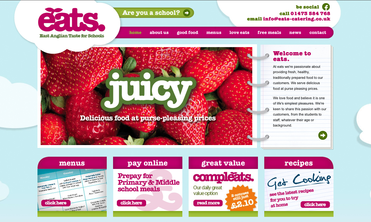 EATS homepage
