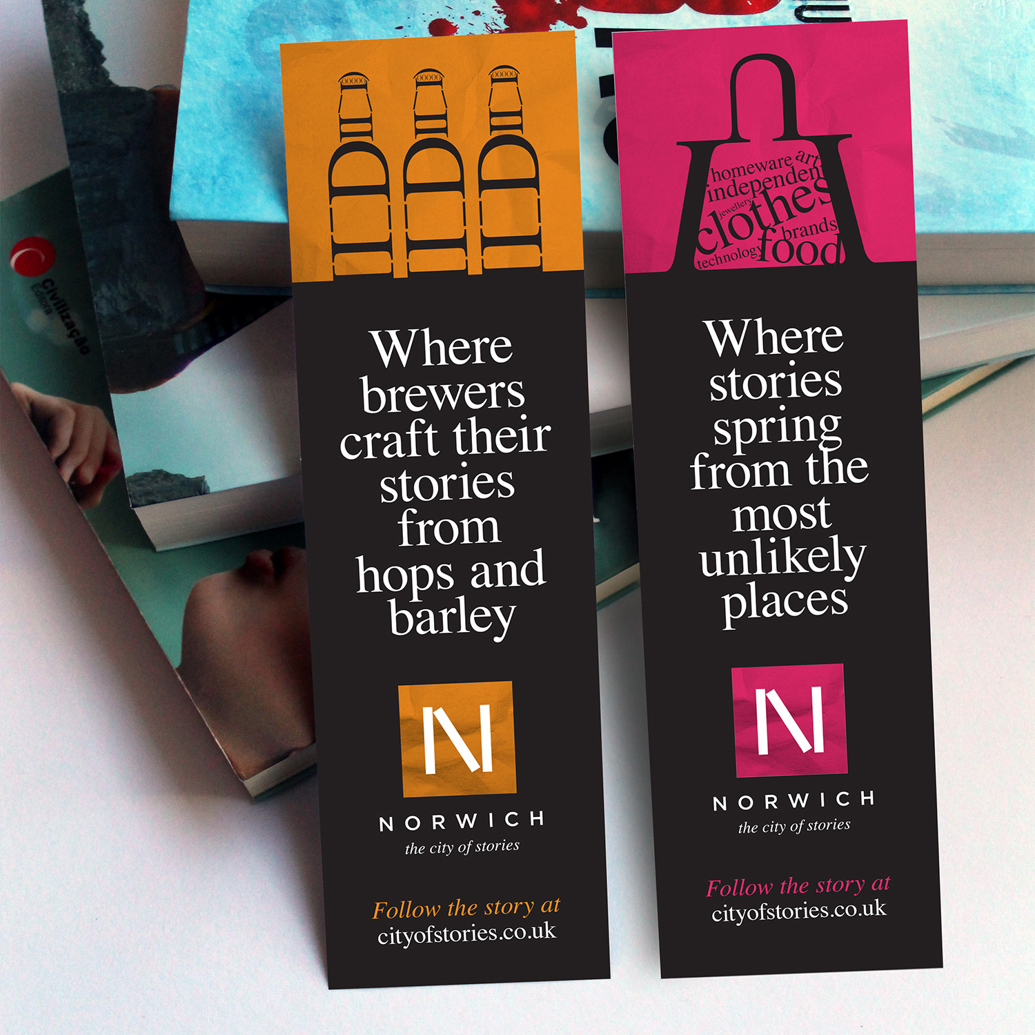 City of Stories bookmarks