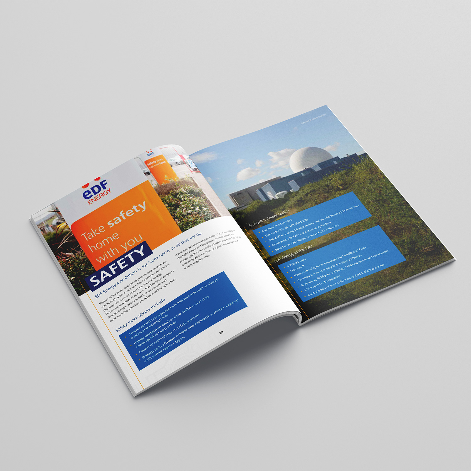 EDF Sizewell C brochure inside pages