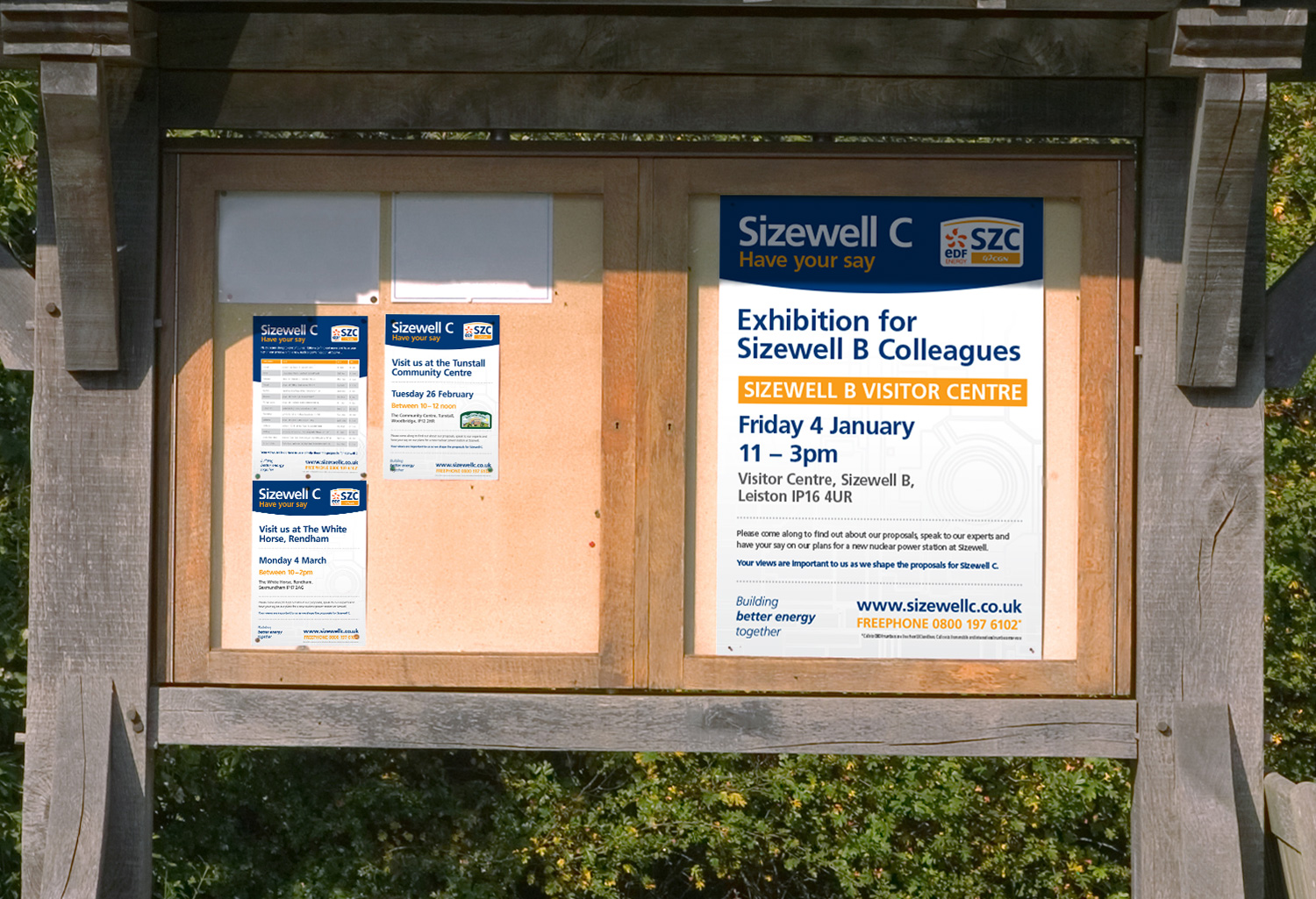 EDF Sizewell C consultation posters