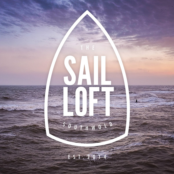 Sail Loft logo sea background