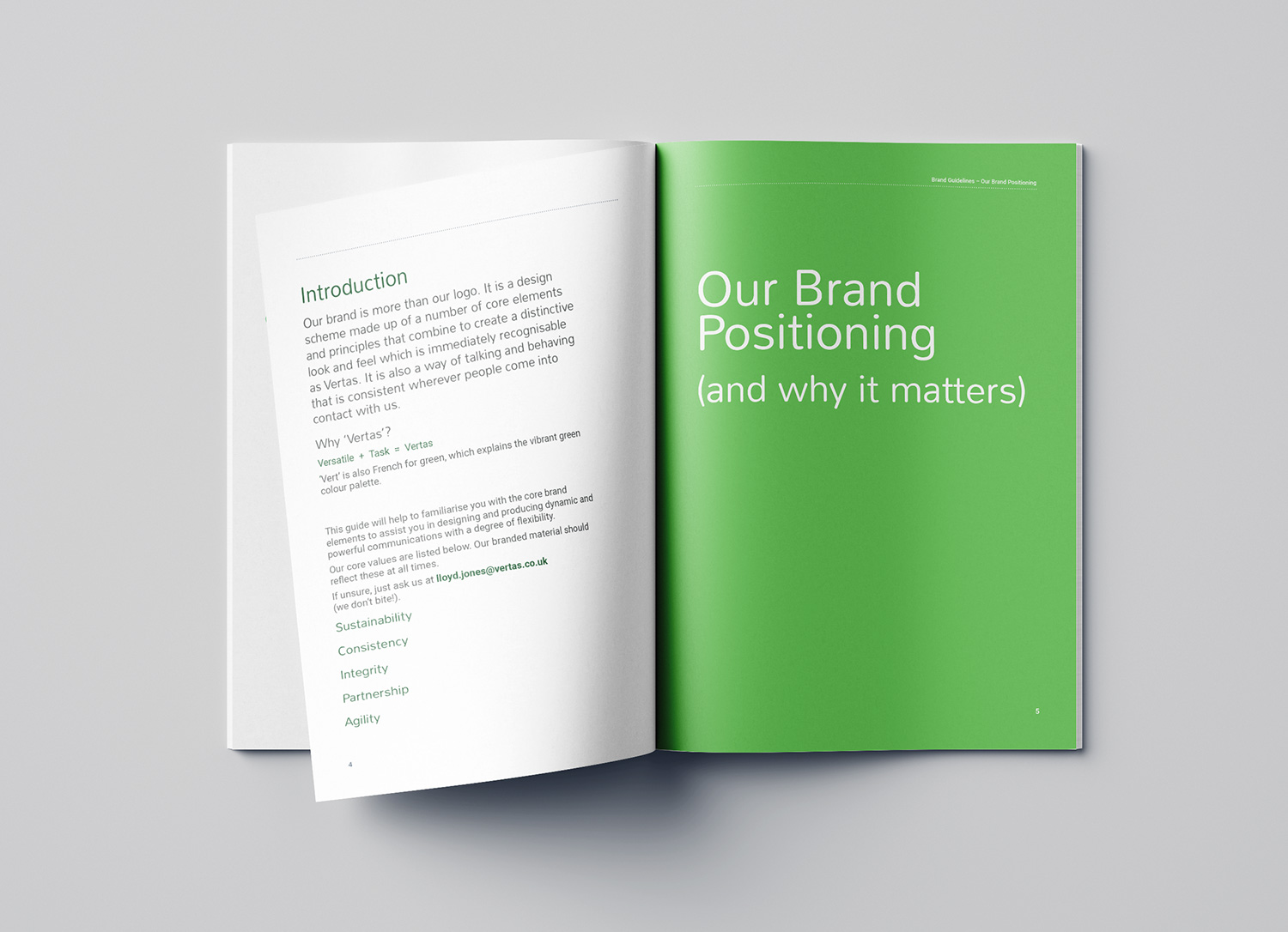 Vertas brand guidelines inside page