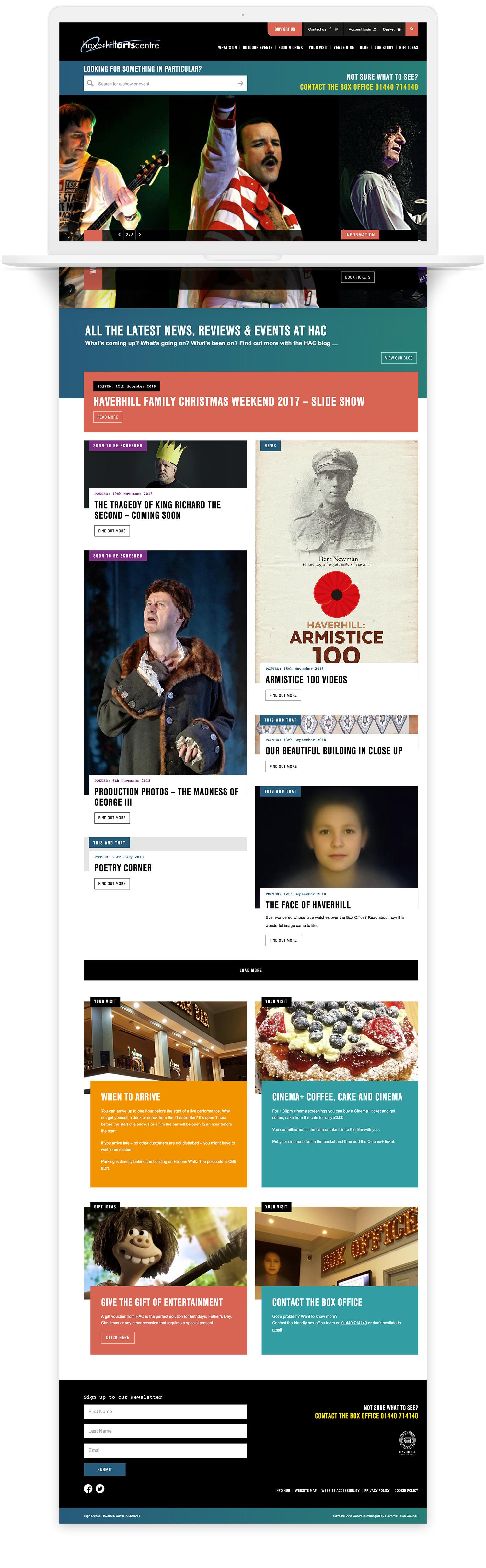 Haverhill Arts Centre website