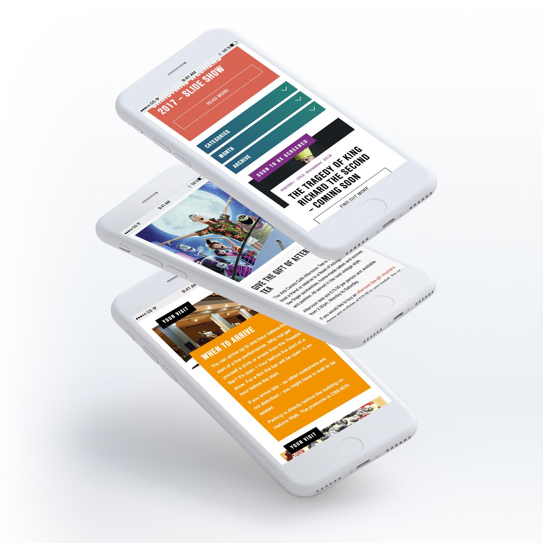 Haverhill Arts Centre website mobile pages
