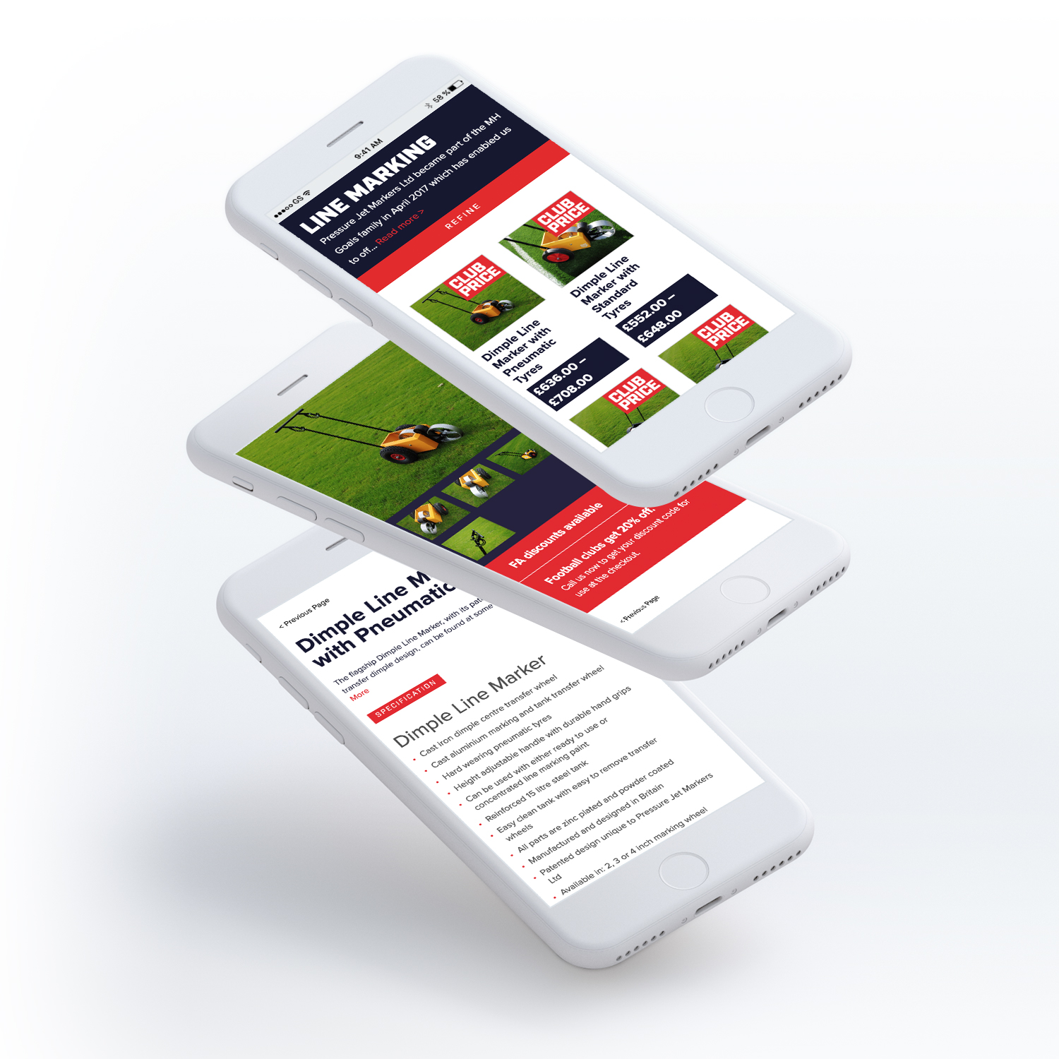 MH Goals mobile site